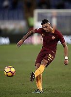 Calcio, Serie A: Roma vs Cagliari, Roma, stadio Olimpico, 22 gennaio 2017.<br /> Roma's Emerson Palmieri in action during the Italian Serie A football match between Roma and Cagliari at Rome's Olympic stadium, 22 January 2017. <br /> UPDATE IMAGES PRESS/Isabella Bonotto