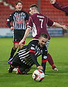 Pars' Ryan Wallace is brought down by Stenny's Sean Dickson and is awarded a penalty.