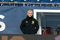 FOXBOROUGH, MA - OCTOBER 3: Nashville SC coach Gary Smith watches the play during a game between Nashville SC and New England Revolution at Gillette Stadium on October 3, 2020 in Foxborough, Massachusetts.