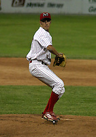 June 27, 2003:  pitcher Vincent DeChristofaro of the Batavia Muckdogs during a game at Dwyer Stadium in Batavia, New York.  Photo by:  Mike Janes/Four Seam Images
