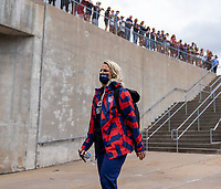 EAST HARTFORD, CT - JULY 5: Julie Ertz #8 of the USWNT walks into the stadium during a game between Mexico and USWNT at Rentschler Field on July 5, 2021 in East Hartford, Connecticut.