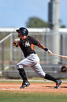 Miami Marlins Rony Cabrera (66) during a minor league spring training game against the New York Mets on March 30, 2015 at the Roger Dean Complex in Jupiter, Florida.  (Mike Janes/Four Seam Images)