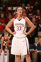 2 December 2007: Stanford Cardinal Jillian Harmon during Stanford's 62-41 win against the UC Davis Aggies at Maples Pavilion in Stanford, CA.