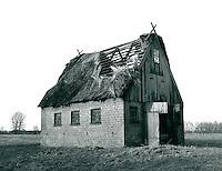 Ruine in der Marsch, Schleswig-Holstein, Deutschland 1980