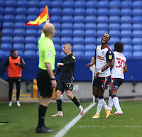 Bolton Wanderers' Nathan Delfouneso shows his frustration at the linesmans decision<br /> <br /> Photographer Stephen White/CameraSport<br /> <br /> The EFL Sky Bet League Two - Bolton Wanderers v Oldham Athletic - Saturday 17th October 2020 - University of Bolton Stadium - Bolton<br /> <br /> World Copyright © 2020 CameraSport. All rights reserved. 43 Linden Ave. Countesthorpe. Leicester. England. LE8 5PG - Tel: +44 (0) 116 277 4147 - admin@camerasport.com - www.camerasport.com