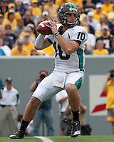 September 4, 2010: Coastal Carolina quarterback Zack MacDowall. The West Virginia Mountaineers defeated the Coastal Carolina Chanticleers 31-0 on September 4, 2010 at Mountaineer Field, Morgantown, West Virginia.