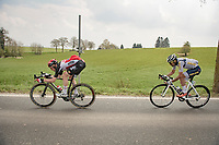 Tim Wellens (BEL/Lotto-Soudal) tucking in for speed (within UCI rules)<br /> <br /> 85th La Flèche Wallonne 2021 (1.UWT)<br /> 1 day race from Charleroi to the Mur de Huy (BEL): 194km<br /> <br /> ©kramon
