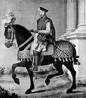 François Clouet (c.1515-1572), French School , Equestrian Portrait of Henry II of France (1519-1559) , Chantilly, The Metropolitan Museum of Art, New York.