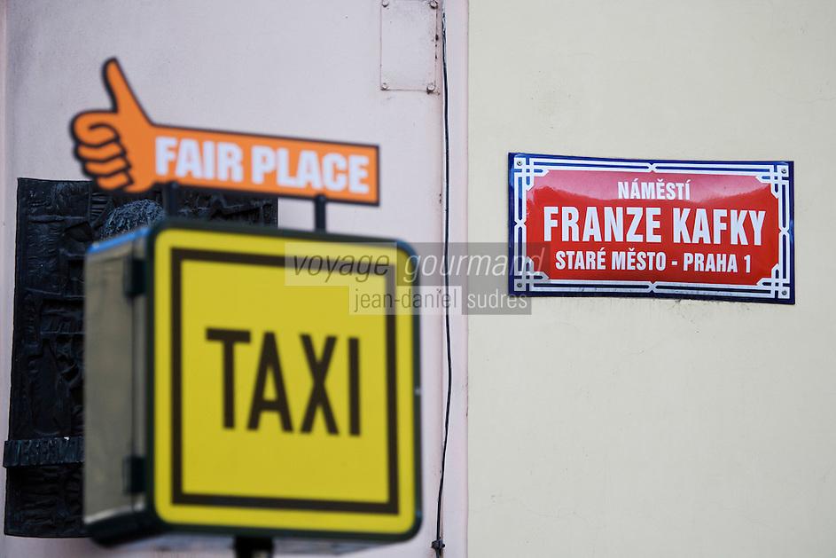 Europe/République Tchèque/Prague:Plaque de la maison natale de Franz  Kafka  dans la vieille ville