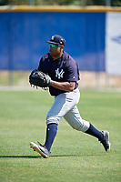 New York Yankees Canaan Smith (75) during practice before a Minor League Spring Training game against the Toronto Blue Jays on March 18, 2018 at Englebert Complex in Dunedin, Florida.  (Mike Janes/Four Seam Images)