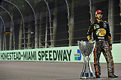 Monster Energy NASCAR Cup Series<br /> Ford EcoBoost 400<br /> Homestead-Miami Speedway, Homestead, FL USA<br /> Monday 20 November 2017<br /> Martin Truex Jr, Furniture Row Racing, Bass Pro Shops / Tracker Boats Toyota Camry championship portrait<br /> World Copyright: Logan Whitton<br /> LAT Images