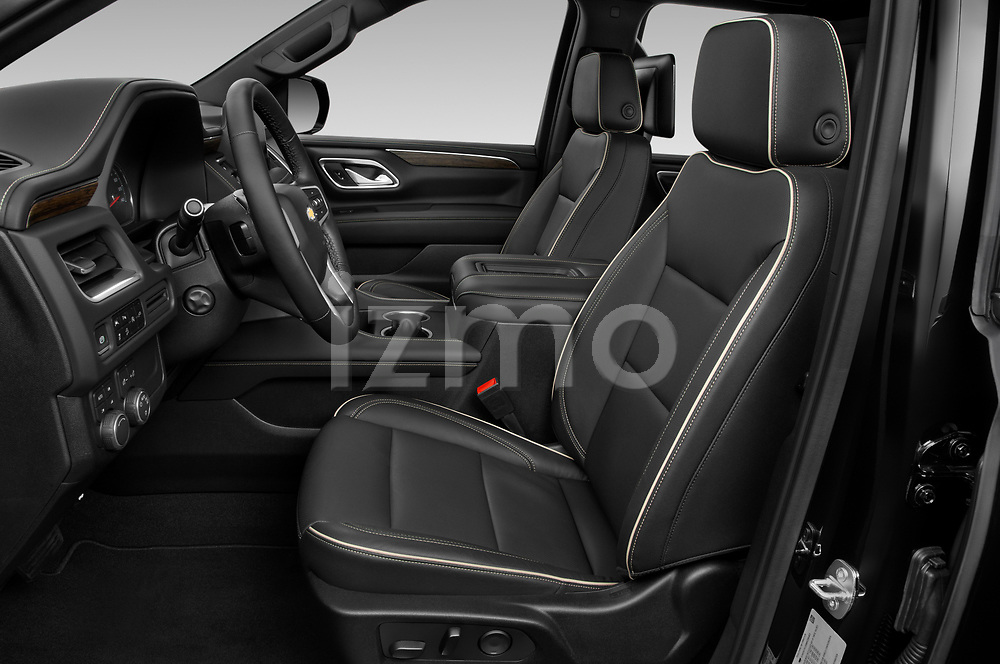 Front seat view of a 2021 Chevrolet Suburban Premier 5 Door SUV