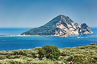 Marathonisi Island in Zakynthos, Greece