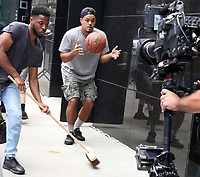 NEW YORK, NY- JULY 21: The Cast Of Stomp on the set of Good Morning America in New York City on July 21, 2021. Credit: RW/MediaPunch
