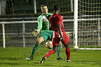 Aveni of Clapton scores the third goal for his team during Redbridge vs Clapton, Essex Senior League Football at Oakside Stadium on 31st January 2020