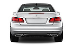 Straight rear view of a 2014 Mercedes E Class 350 Coupe