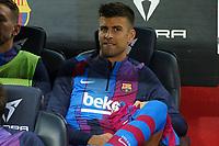 20th September 2021; Nou Camp, Barcelona, Spain; La Liga football league;  FC Barcelona versus Granada;   Gerad Pique on the bench for Barca