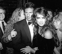 1981 FILE PHOTO<br /> New York City<br /> Calvin Klein and Brooke Shields at Studio 54<br /> Photo by Adam Scull-PHOTOlink.net