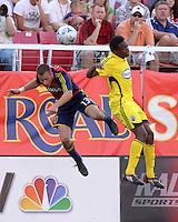Ian Joy and Emmanuel Ekpo in the 2-0  Real Salt Lake win at Rice Eccles Stadium  in Salt Lake City, Utah on  July 12, 2008.