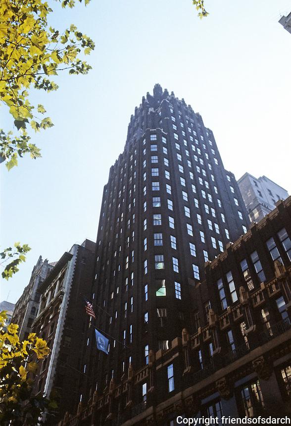 New York:  American Radiator Building, 1924. Raymond Hood, architect.  Photo '91.