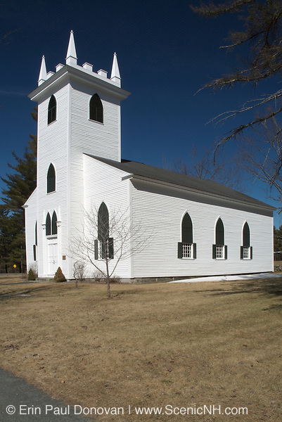 Old North Church which was built in 1828. Located in the historical Canaan, New Hampshire, USA, which is part of New England