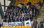 St Johnstone v Hearts…10.08.16..  McDiarmid Park…Saints fans<br />Brian Easton<br />Picture by Graeme Hart.<br />Copyright Perthshire Picture Agency<br />Tel: 01738 623350  Mobile: 07990 594431