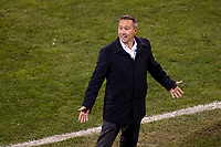COLUMBUS, OH - DECEMBER 12: Head coach Caleb Porter of Columbus Crew reacts late in the match against Seattle Sounders FC during a game between Seattle Sounders FC and Columbus Crew at MAPFRE Stadium on December 12, 2020 in Columbus, Ohio.