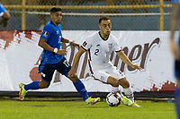 SAN SALVADOR, EL SALVADOR - SEPTEMBER 2: Sergino Dest #2 of the United States moves with the ball during a game between El Salvador and USMNT at Estadio Cuscatlán on September 2, 2021 in San Salvador, El Salvador.