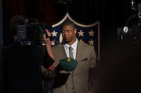 The 28th overall pick defensive end Nick Perry (Southern California) of the Green Bay Packers during the first round of the 2012 NFL Draft at Radio City Music Hall in New York, NY, on April 26, 2012.