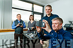 AgriTech Centre of Excellence who design VR software for agricultural technology in the Tom Crean Centre, Tralee from left: Muiris O'Grady, Fiona Boyle Hans Moolman, Niall Trant,
