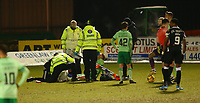 10th February 2021; St Mirren Park, Paisley, Renfrewshire, Scotland; Scottish Premiership Football, St Mirren versus Celtic; Stephen Welsh of Celtic is treated for an injury