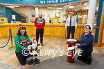 Cahersiveen Branch of Killarney Credit Union ready to help with all your financial needs this Christmas , pictured here l-r; Sheila Coffey, Darren Casey, John Casey & Elma Shine (Branch Manager).