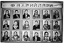 Uzbekistan - Margilan - Pictures of workers who have worked in the factory for more than 10 years.