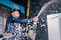 Christina Siggaard (DEN/Virtu) wins the 2018 Omloop Het Nieuwsblad <br /> <br /> Gent › Meerbeke: 122km (BELGIUM)