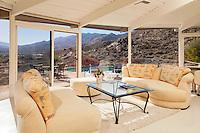 Stock photo of mid-century living room