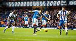 James Tavernier cracks the ball off the post