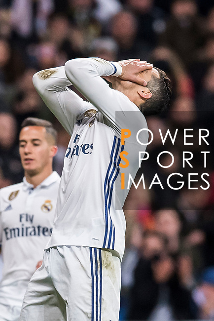 Cristiano Ronaldo of Real Madrid reacts during their La Liga match between Real Madrid and Real Betis at the Santiago Bernabeu Stadium on 12 March 2017 in Madrid, Spain. Photo by Diego Gonzalez Souto / Power Sport Images