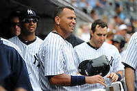 New York Yankees infielder Alex Rodriguez #13 during a game against the Baltimore Orioles at Yankee Stadium on September 5, 2011 in Bronx, NY.  Yankees defeated Orioles 11-10.  Tomasso DeRosa/Four Seam Images