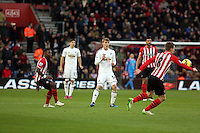 Pictured: Jay Fulton of Swansea (C) Sunday 01 February 2015<br />