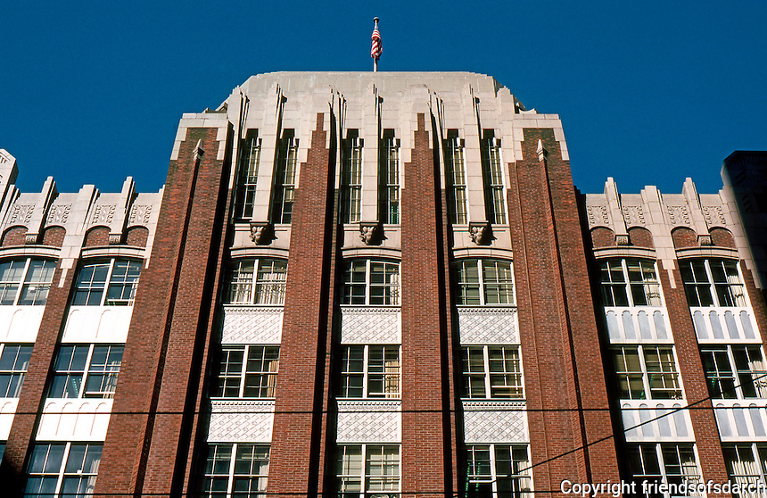 Seattle: Old Federal Office Building, 1932-33. James A. Wetmore, Arch. 900 block First, across street from new Federal Building.  Photo '86.