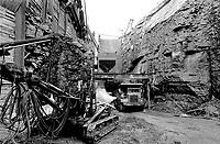 Chantier de l'expansion du Metro,<br /> Mars 1973,<br /> Date exacte inconnue<br /> <br /> PHOTO : Agence Quebec Presse<br /> - Alain Renaud
