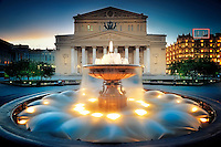 Fountain near the Bolshoi theater. Moscow, Russia