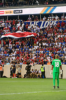 Harrison, NJ - Friday July 07, 2017: Costa Rica fans, Patrick Pemberton during a 2017 CONCACAF Gold Cup Group A match between the men's national teams of Honduras (HON) vs Costa Rica (CRC) at Red Bull Arena.