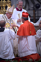 Cardinal António Augusto dos Santos Marto, Pope Francis leads a consistory for the creation of five new cardinals  at St Peter's basilica in Vatican on  June 28, 2018