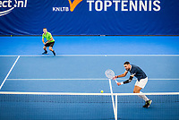Amstelveen, Netherlands, 16  December, 2020, National Tennis Center, NTC, NK Indoor, National  Indoor Tennis Championships,  Doubles :  Alban Meuffels (NED) (L) and<br /> David Pel (NED) <br /> Photo: Henk Koster/tennisimages.com