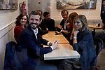 Pablo Casado and his wife Isabel Torres during the Partido Popular leader Pablo Casado voting in Madrid at Nuestra Senora del Pilar school in Madrid, Spain. November 10, 2019. November 10, 2019. (ALTERPHOTOS/A. Perez Meca)