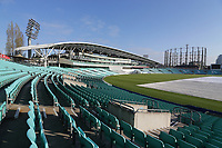 General view of the ground ahead of Surrey CCC vs Essex CCC, Specsavers County Championship Division 1 Cricket at the Kia Oval on 11th April 2019