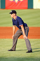 July 10th 2008: 1st Base Umpire Rick Wilson during a game at the Home of the Owlz Stadium in Orem, UT.  Photo by:  Matthew Sauk/Four Seam Images