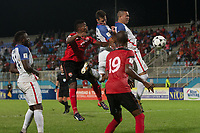 Couva, Trinidad & Tobago - Tuesday Oct. 10, 2017:  Benny Feilhaber and Bobby Wood during a 2018 FIFA World Cup Qualifier between the men's national teams of the United States (USA) and Trinidad & Tobago (TRI) at Ato Boldon Stadium.