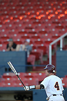 Central Michigan Chippewas William Arnold #4 bats during a game vs. the Pittsburgh Panthers at Chain of Lakes Park in Winter Haven, Florida;  March 11, 2011.  Pittsburgh defeated Central Michigan 19-2;  Chain of Lakes Park is rumored be torn down for a shopping mall.  Photo By Mike Janes/Four Seam Images